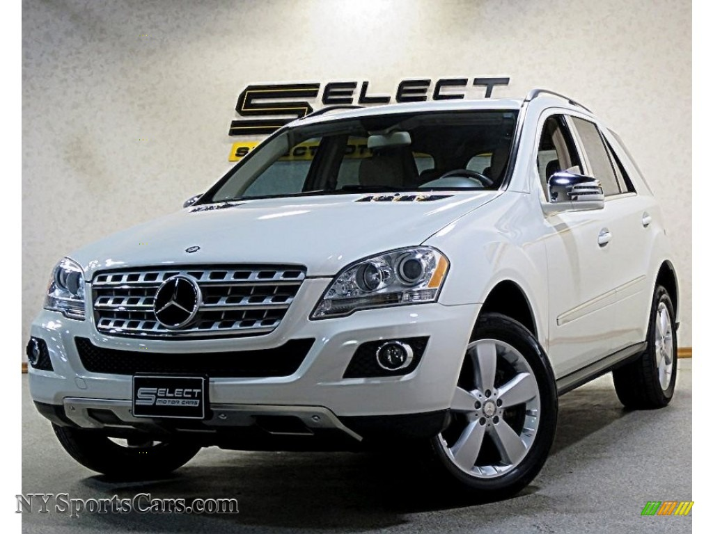 2011 ML 350 4Matic - Arctic White / Cashmere photo #1