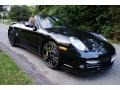 Porsche 911 Turbo S Cabriolet Basalt Black Metallic photo #9