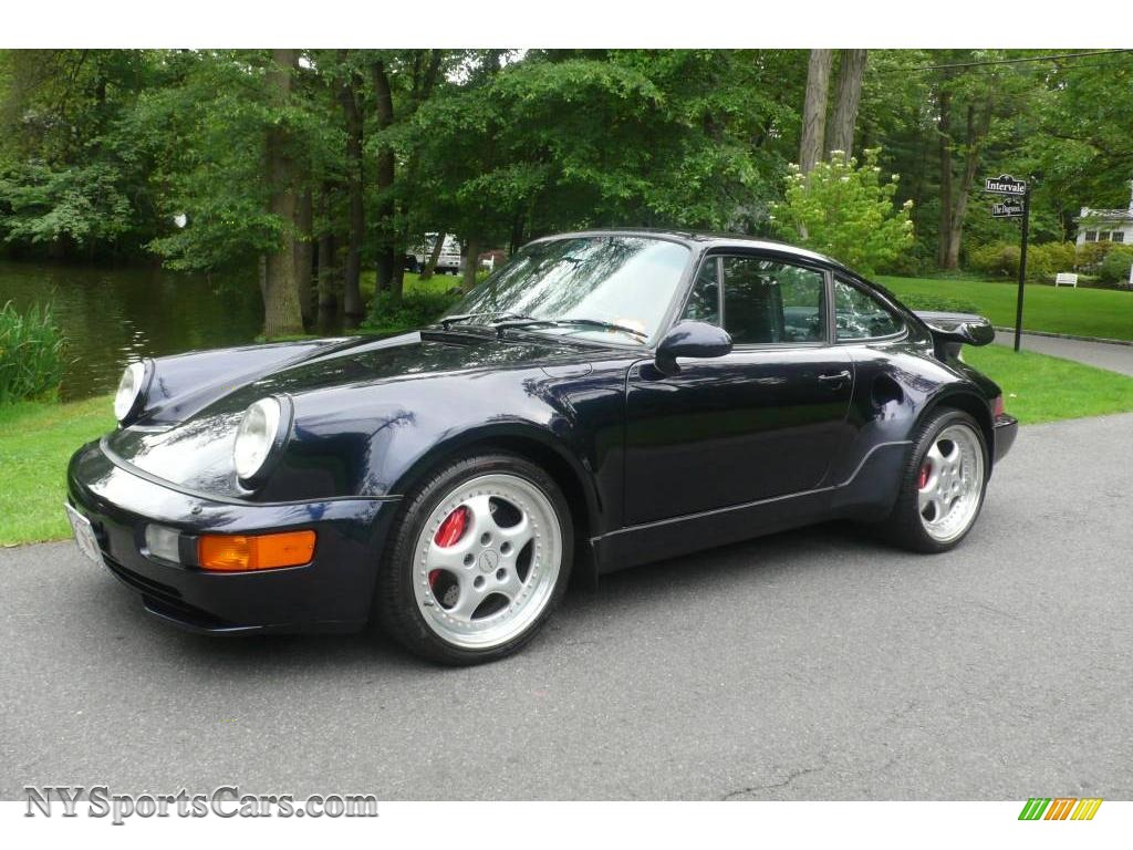 1994 911 Turbo 3.6 S - Midnight Blue Metallic / Black photo #1