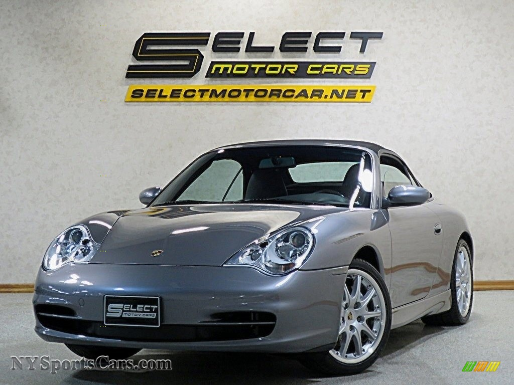 2002 911 Carrera 4 Cabriolet - Seal Grey Metallic / Black photo #1