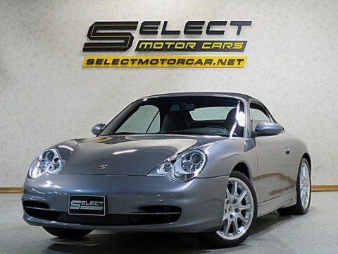 Seal Grey Metallic 2002 Porsche 911 Carrera 4 Cabriolet