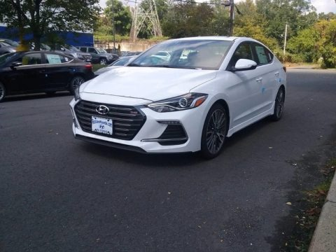 Quartz White Pearl 2018 Hyundai Elantra Sport