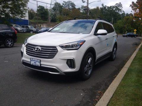 Monaco White 2018 Hyundai Santa Fe Limited Ultimate