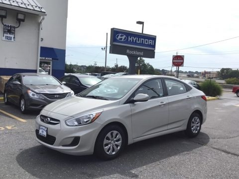 Misty Beige 2016 Hyundai Accent SE Sedan