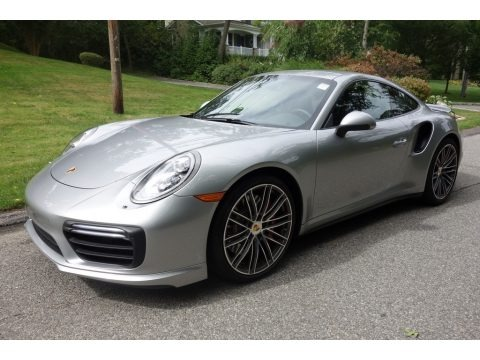 GT Silver Metallic 2017 Porsche 911 Turbo Coupe