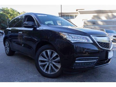 Crystal Black Pearl 2015 Acura MDX SH-AWD Technology