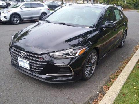 Phantom Black 2018 Hyundai Elantra Sport