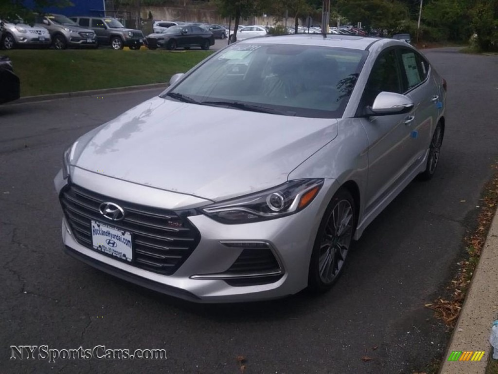 2018 Elantra Sport - Symphony Silver / Black photo #1