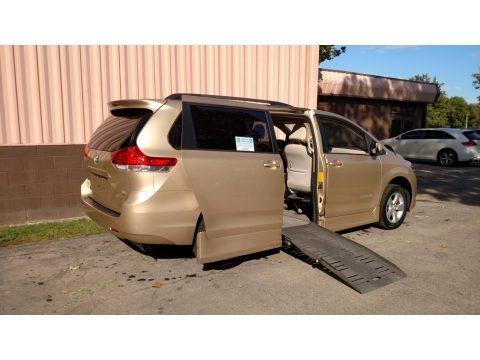 Sandy Beach Metallic 2012 Toyota Sienna LE