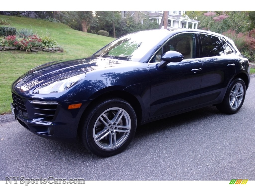 2015 Macan S - Dark Blue Metallic / Luxor Beige photo #1
