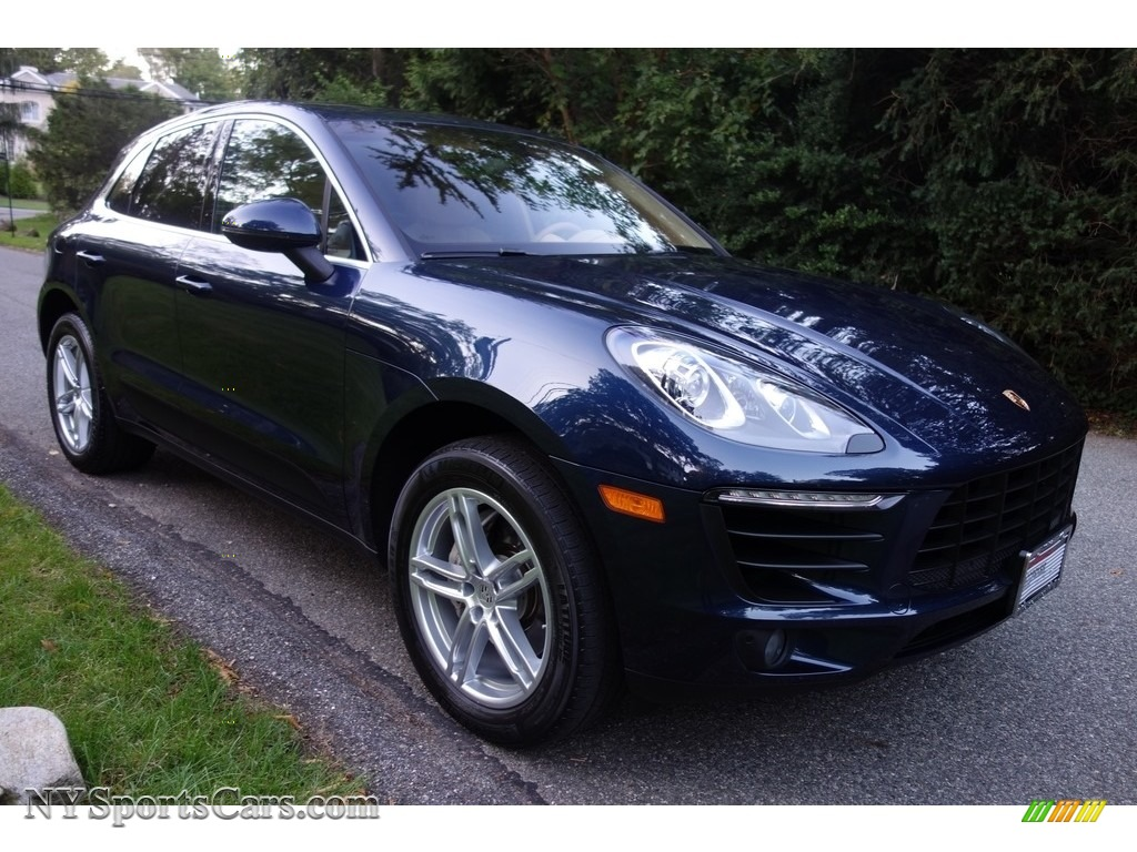 2015 Macan S - Dark Blue Metallic / Luxor Beige photo #8