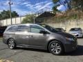 Honda Odyssey Touring Elite Smoky Topaz Metallic photo #3