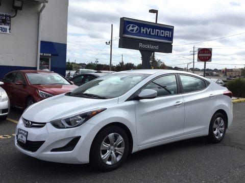 White 2016 Hyundai Elantra SE