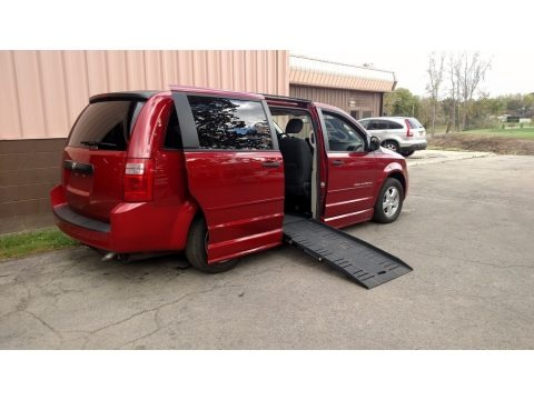 Inferno Red Crystal Pearl 2008 Dodge Grand Caravan SE