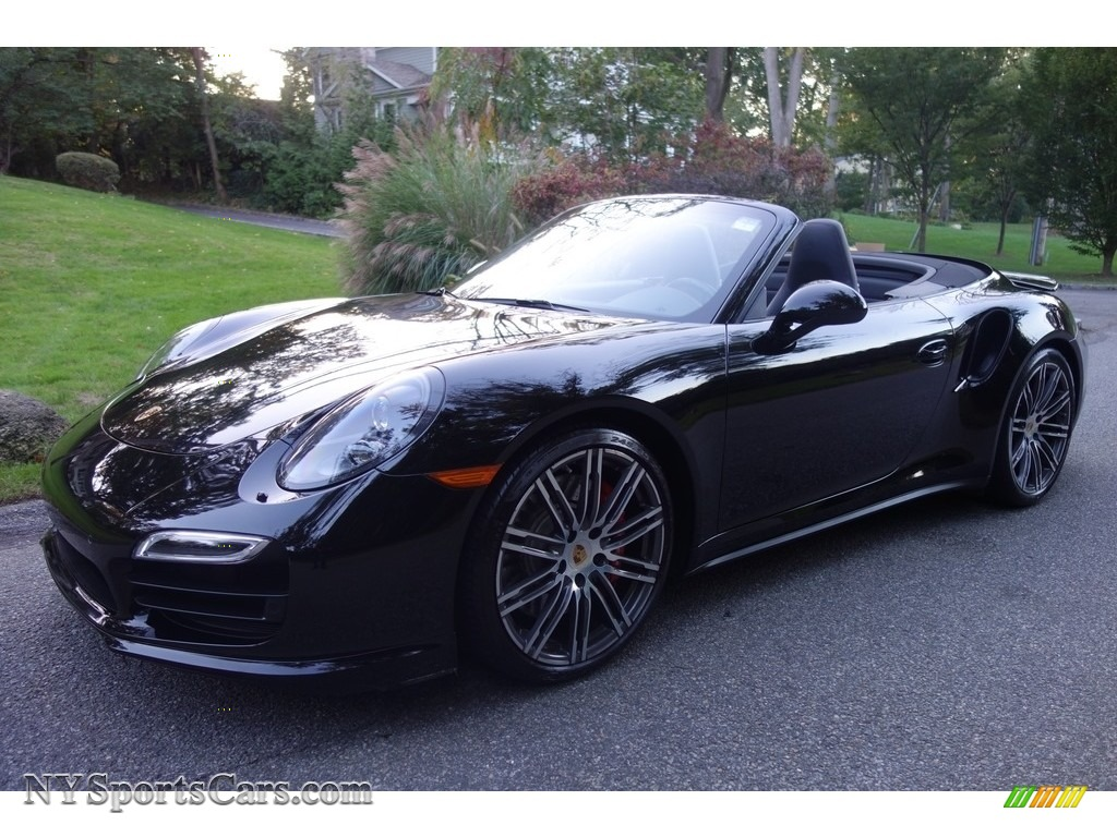 2015 911 Turbo Cabriolet - Black / Black photo #1