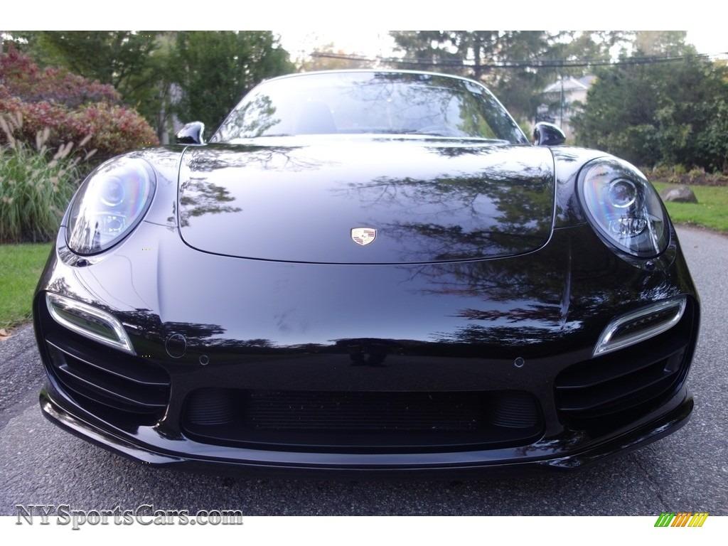 2015 911 Turbo Cabriolet - Black / Black photo #2