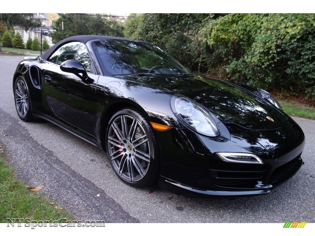 2015 911 Turbo Cabriolet - Black / Black photo #9
