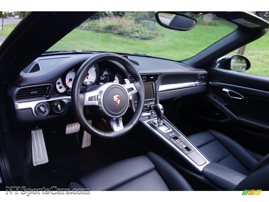 2015 911 Turbo Cabriolet - Black / Black photo #21
