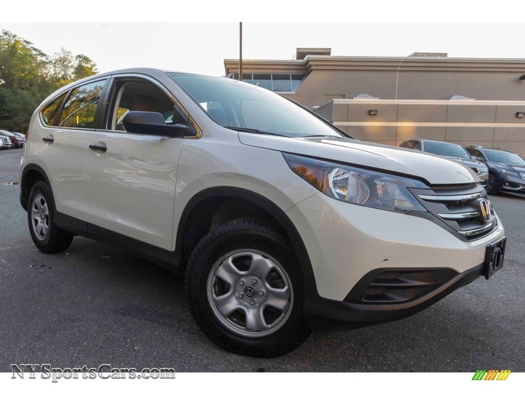 White Diamond Pearl / Gray Honda CR-V LX AWD