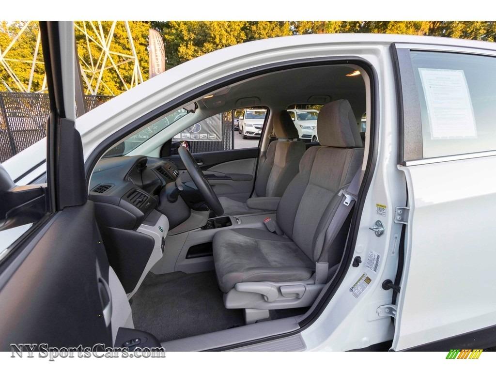 2014 CR-V LX AWD - White Diamond Pearl / Gray photo #9
