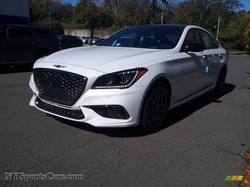 2018 Genesis G80 Sport - Casablanca White / Black photo #1