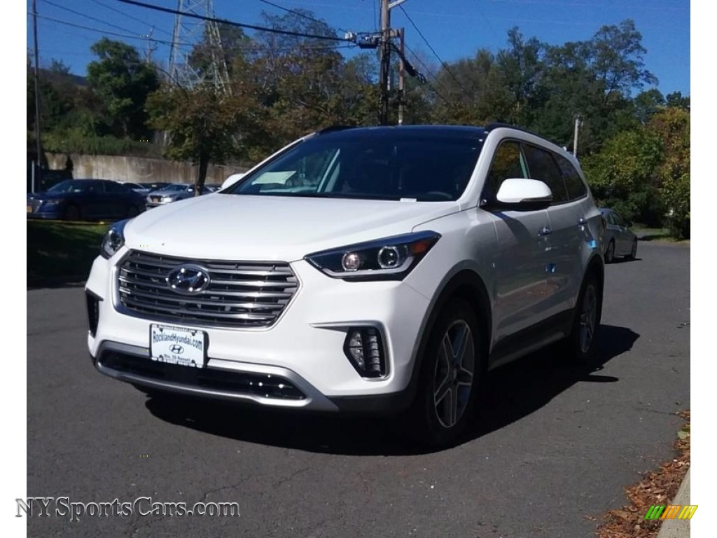 2018 Santa Fe SE Ultimate - Monaco White / Black photo #1