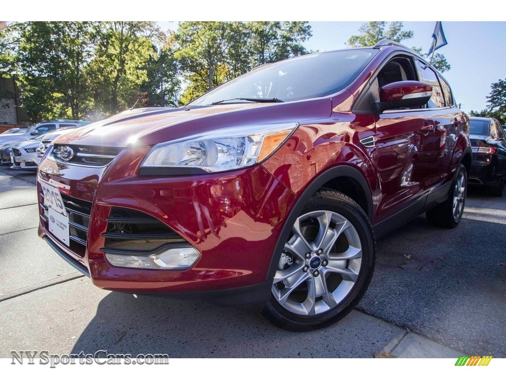 2015 Escape Titanium 4WD - Ruby Red Metallic / Charcoal Black photo #1