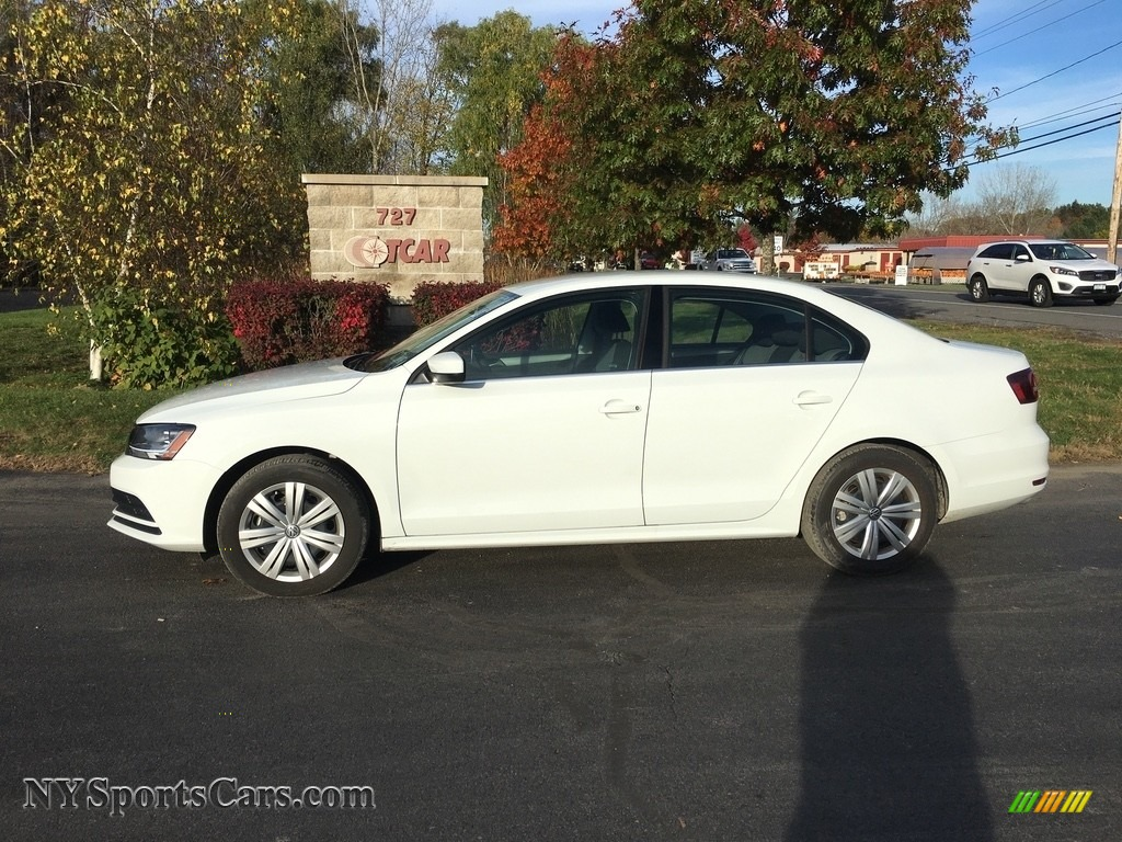 Pure White / Black/Palladium Gray Volkswagen Jetta S