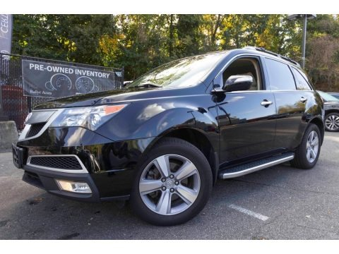 Crystal Black Pearl 2013 Acura MDX SH-AWD Technology