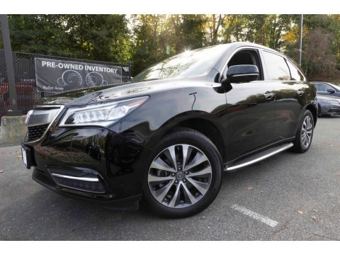 Crystal Black Pearl 2016 Acura MDX SH-AWD Technology