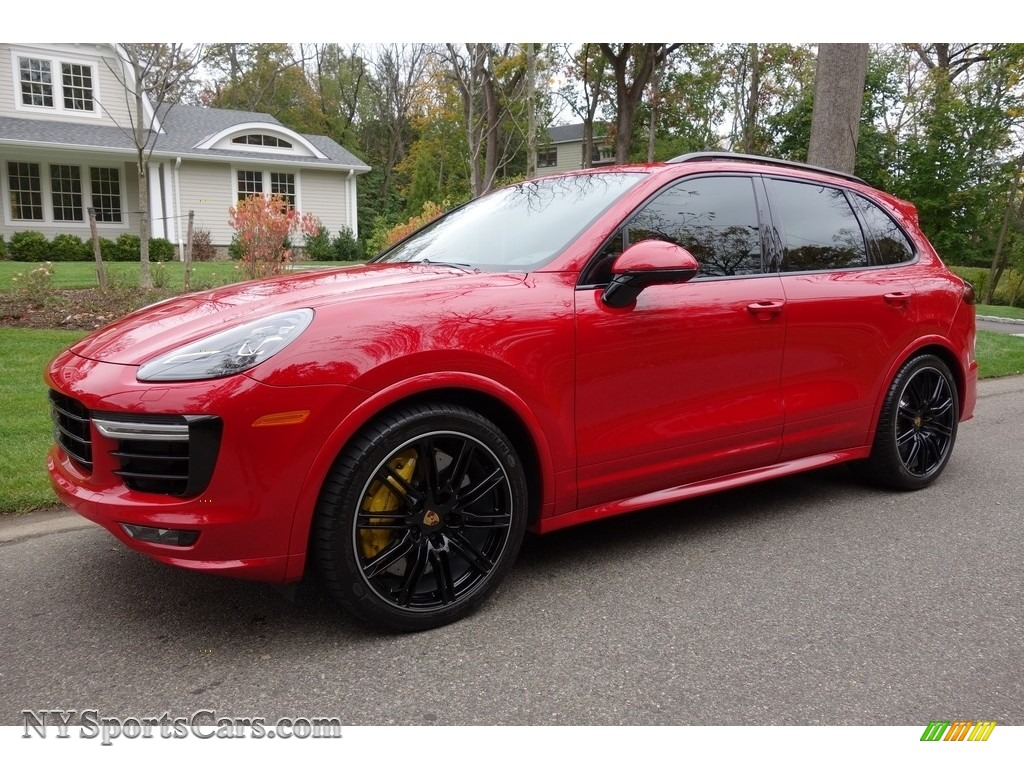 2016 Cayenne Turbo S - Carmine Red / Saddle Brown/Black photo #1