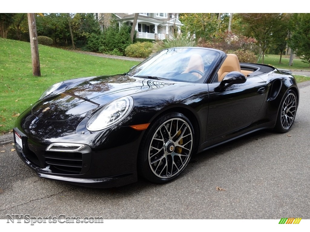 Basalt Black Metallic / Espresso/Cognac Natural Leather Porsche 911 Turbo S Cabriolet