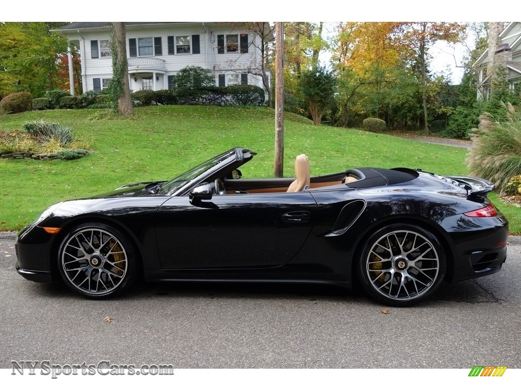 2015 911 Turbo S Cabriolet - Basalt Black Metallic / Espresso/Cognac Natural Leather photo #3