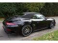 Porsche 911 Turbo S Cabriolet Basalt Black Metallic photo #6