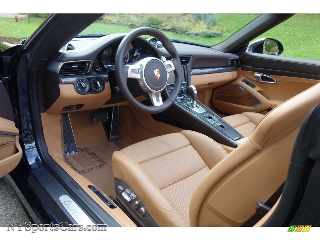 2015 911 Turbo S Cabriolet - Basalt Black Metallic / Espresso/Cognac Natural Leather photo #10