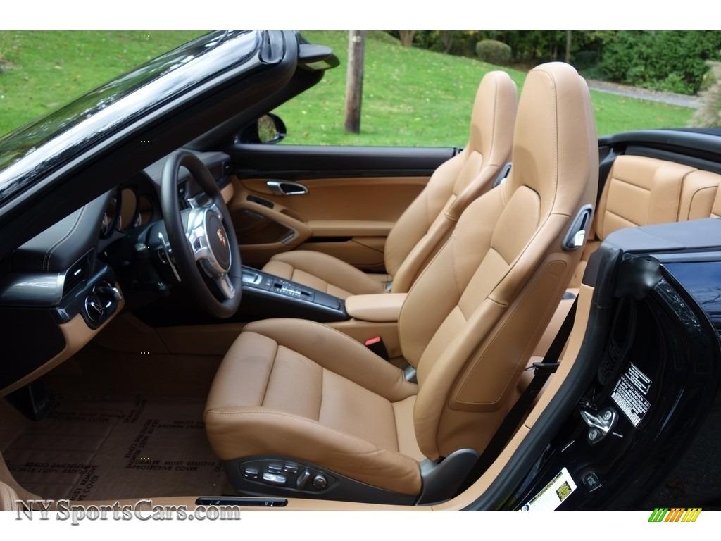2015 911 Turbo S Cabriolet - Basalt Black Metallic / Espresso/Cognac Natural Leather photo #12
