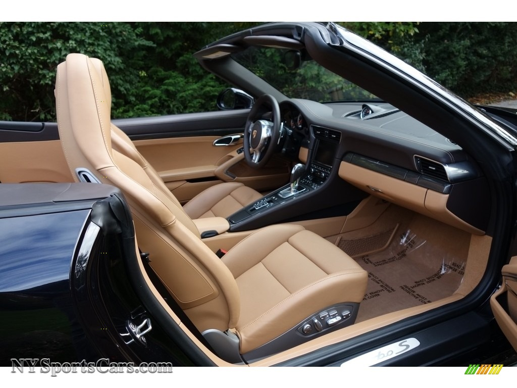2015 911 Turbo S Cabriolet - Basalt Black Metallic / Espresso/Cognac Natural Leather photo #14