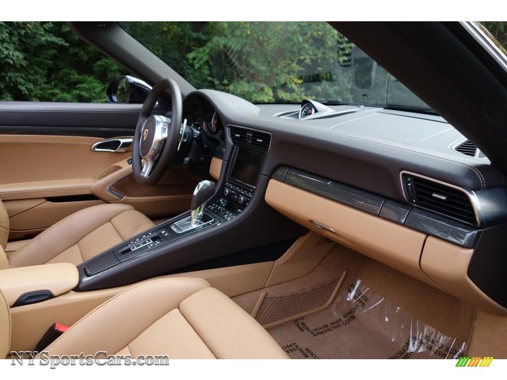 2015 911 Turbo S Cabriolet - Basalt Black Metallic / Espresso/Cognac Natural Leather photo #16