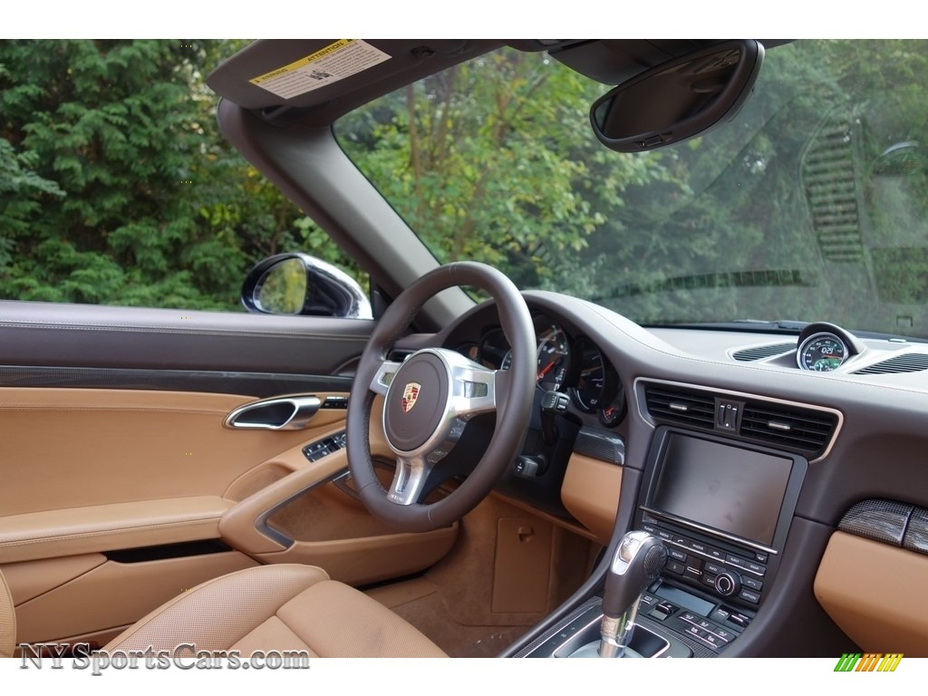 2015 911 Turbo S Cabriolet - Basalt Black Metallic / Espresso/Cognac Natural Leather photo #17