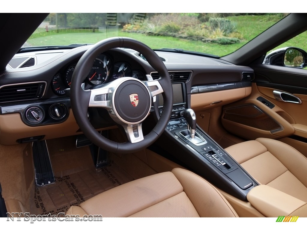 2015 911 Turbo S Cabriolet - Basalt Black Metallic / Espresso/Cognac Natural Leather photo #22