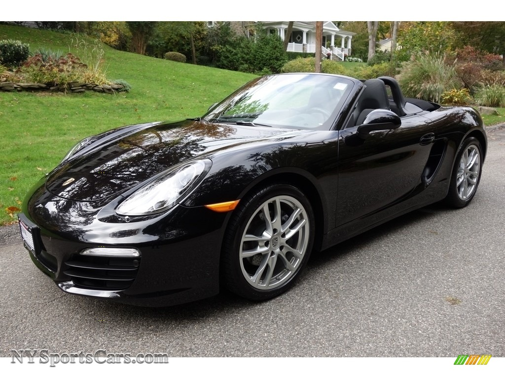 Jet Black Metallic / Black Porsche Boxster