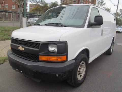 Summit White 2008 Chevrolet Express 2500 Cargo Van