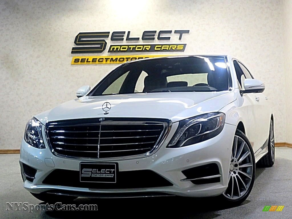 2016 S 550 4Matic Sedan - designo Diamond White Metallic / Nut Brown/Black photo #1