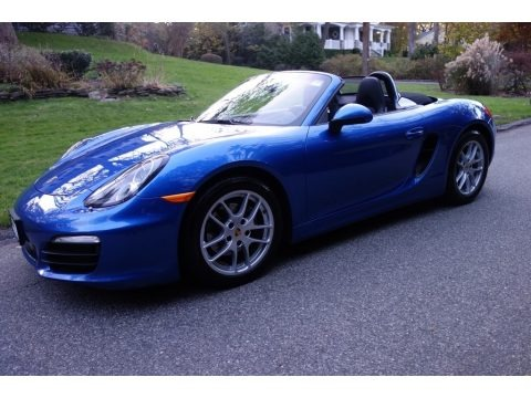 Sapphire Blue Metallic 2015 Porsche Boxster