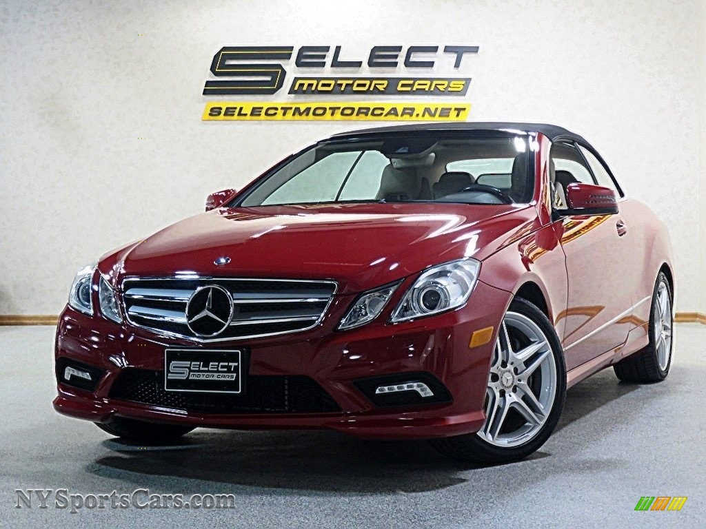 2011 E 550 Cabriolet - Mars Red / Almond/Mocha photo #1