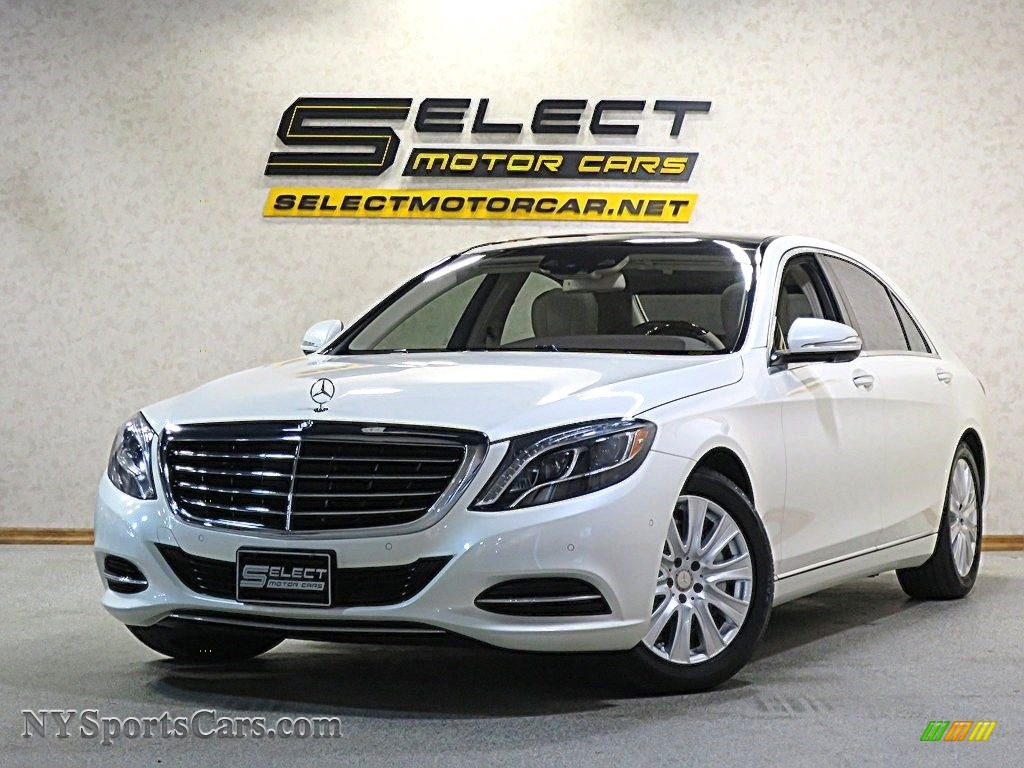 2015 S 550 4Matic Sedan - Diamond White Metallic / Silk Beige/Espresso Brown photo #1