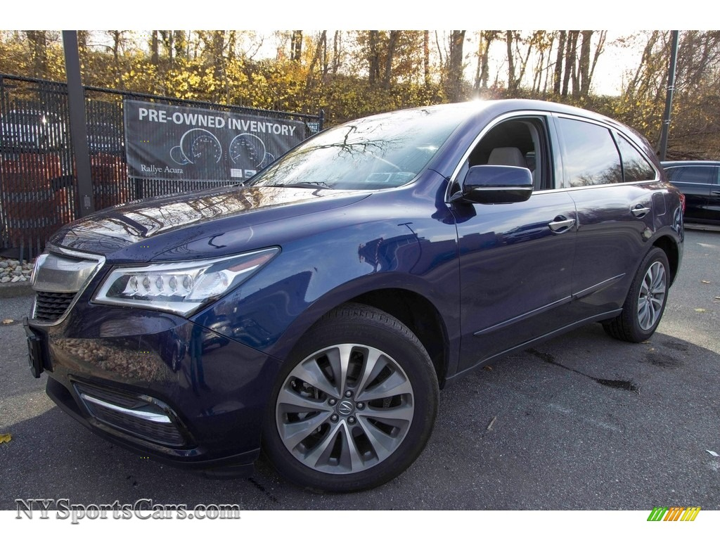 2015 MDX SH-AWD Technology - Fathom Blue Pearl / Graystone photo #1