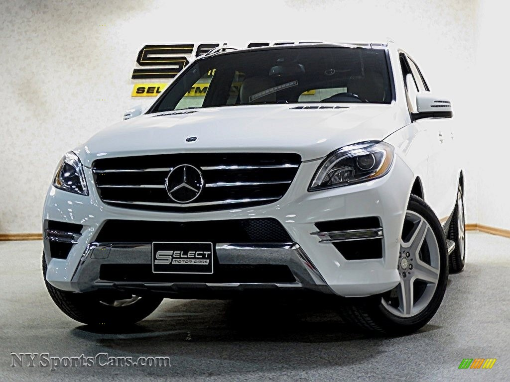 2015 ML 350 4Matic - Polar White / Almond Beige/Mocha photo #1