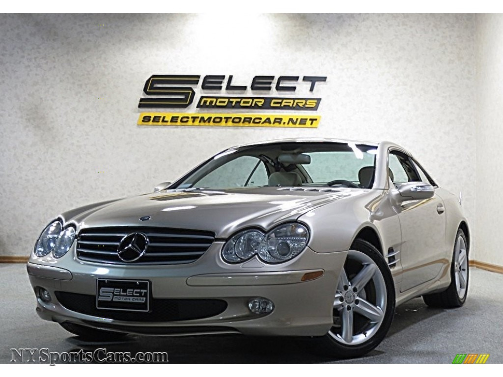 2004 SL 500 Roadster - Desert Silver Metallic / Stone photo #1