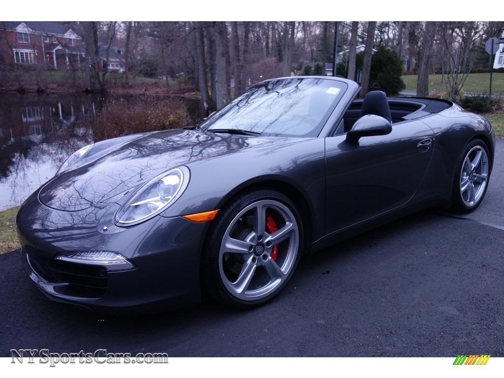 Agate Grey Metallic / Black Porsche 911 Carrera S Cabriolet